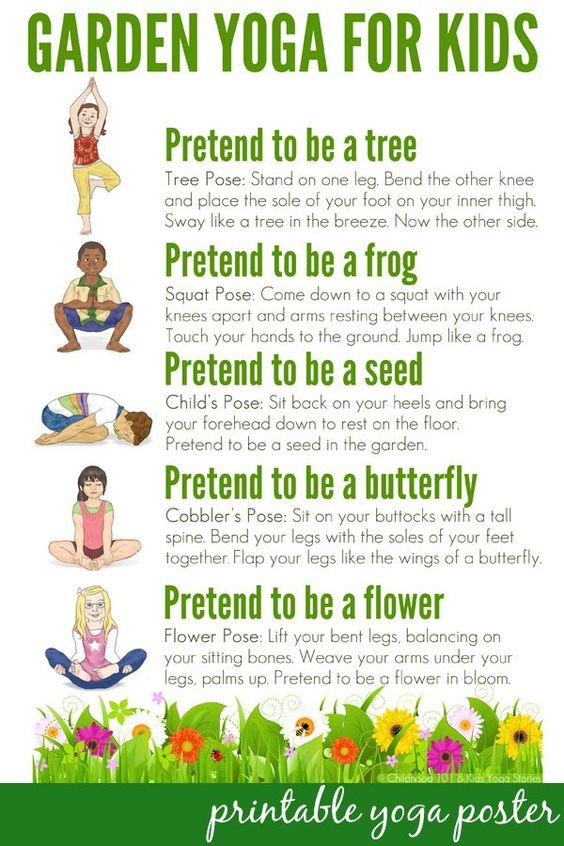 Posturi de yoga pentru copii